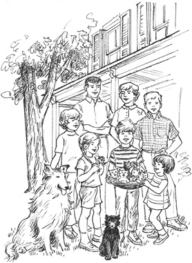 The Happy Hollisters family sketch